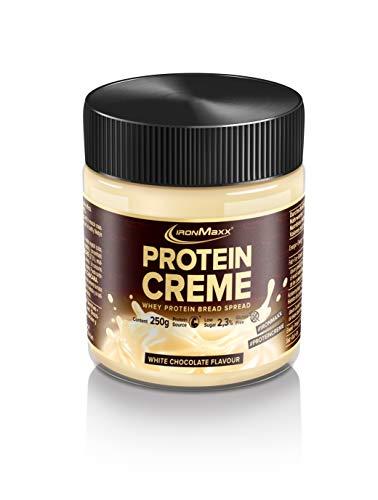 IronMaxx Protein Creme - 250g - Weiße Schokolade - Low Carb Brot-Aufstrich mit bis zu 30% Proteingehalt - ideal...