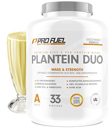 PLANTEIN DUO | Premium Protein-Mix auf pflanzlicher Basis | 100% Vegan Protein Powder & High Protein | Cremig &...