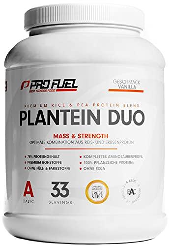 PLANTEIN DUO   Premium Protein-Mix auf pflanzlicher Basis   100% Vegan Protein Powder & High Protein   Cremig &...