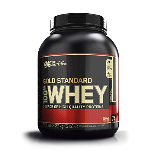 Optimum Nutrition ON Gold Standard Whey Protein Pulver, Eiweißpulver zum Muskelaufbau, natürlich enthaltene BCAA...