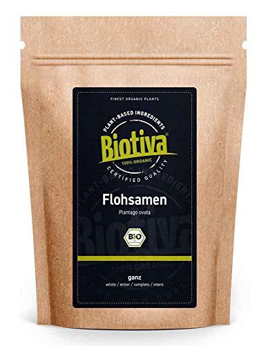 Flohsamen Bio 1kg, ganz - 1000g - 99% Reinheit - Laktosefrei, Glutenfrei, vegan - Abgefüllt und kontrolliert in...