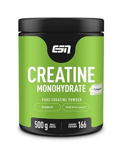 ESN Creapure® Creatine Monohydrate – 500 g – 166 Portionen – 5,5 Monatspackung – hochwertiges reines...