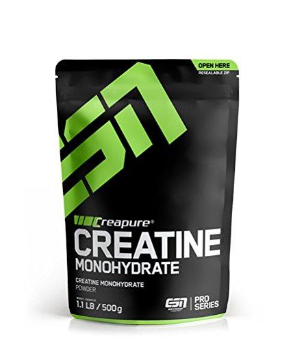ESN Creapure® Creatine Monohydrate – 500g – 166 Portionen - hochwertiges reines Creatine Monohydrate – Vegan...