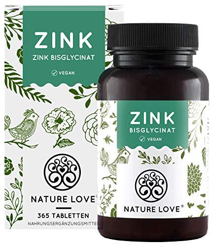 Zink 25mg - 365 Tabletten (1 Jahr) - Hochdosiertes Zink-Bisglycinat (Zink Chelat) von Albion® - Hoch...