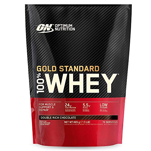 Optimum Nutrition ON Gold Standard Whey Protein Pulver, Eiweißpulver Muskelaufbau mit Glutamin und Aminosäuren,...