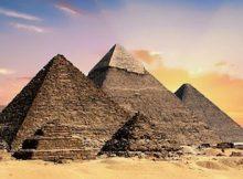 Abbildung von Pyramiden
